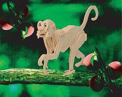 Wood-3D Monkey (11 Long) Wooden 3D Jigsaw Puzzle #1114