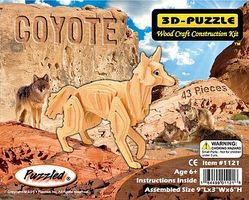 Wood-3D Coyote (Red Fox) (9 Long) Wooden 3D Jigsaw Puzzle #1121
