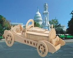Wood-3D Mercedes SSKL Car Skelton Puzzle (11 long) Wooden 3D Jigsaw Puzzle #1207