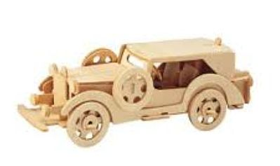 Wood 3-D Puzzles Ford V8 Model Car (11'' Long) -- Wooden 3D Jigsaw Puzzle -- #1216