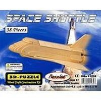 Wood-3D Space Shuttle (9.5 Long) Wooden 3D Jigsaw Puzzle #1230