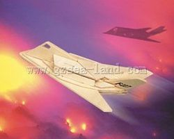 Wood-3D F117 USAF Fighter (10 Long) Wooden 3D Jigsaw Puzzle #1231