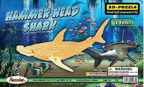 Wood-3D Hammerhead Shark Skeleton Puzzle (12 Long) Wooden 3D Jigsaw Puzzle #1263