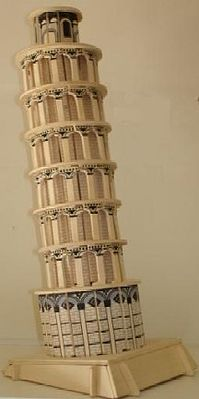 Wood 3-D Puzzles Leaning Tower of Pisa (11.5'' Tall) -- Wooden 3D Jigsaw Puzzle -- #1427