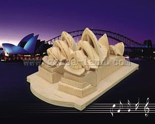 Wood 3-D Puzzles Sydney Opera House in Australia (15'' Long) -- Wooden 3D Jigsaw Puzzle -- #1902