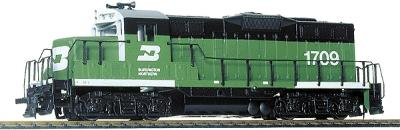 Walthers Trainline EMD GP9M Burlington Northern #1709 -- Model Train Diesel Locomotive -- HO Scale -- #101