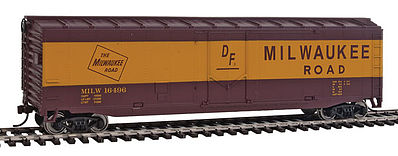 Walthers Trainline Boxcar Ready to Run Milwaukee Road -- HO Scale Model Train Freight Car -- #1405