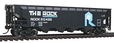 Walthers Trainline Offset Hopper Ready to Run Rock Island -- Model Train Freight Car -- HO Scale -- #1423