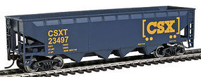 Walthers-Trainline Hopper Ready to Run CSX Blue, Yellow, Boxcar Logo HO Scale Model Train Freight Car #1425