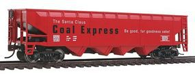 Walthers-Trainline Offset Hopper R2R Santa Claus Coal Express Model Train Freight Car HO Scale #1439