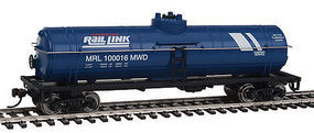 Walthers-Trainline Tank Car Ready to Run Montana Rail Link Blue HO Scale Model Train Freight Car #1446