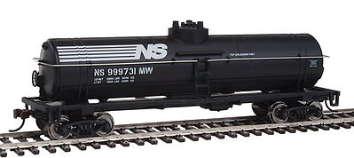 Walthers Trainline Tank Car Ready to Run Norfolk Southern Black -- HO Scale Model Train Freight Car -- #1447