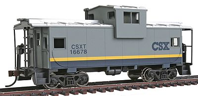 Walthers Trainline Wide Vision Caboose R2R CSX Transportation -- Model Train Freight Car -- HO Scale -- #1505