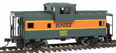 Walthers Trainline Wide Vision Caboose Burlington Northern Santa Fe -- Model Train Freight Car -- HO Scale -- #1520