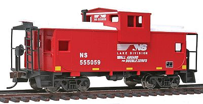 Walthers Trainline Wide Vision Caboose Norfolk Southern (Red, White) -- Model Train Freight Car -- HO Scale -- #1527