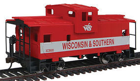 Walthers-Trainline Wide Vision Caboose Wisconsin & Southern Model Train Freight Car HO Scale #1532