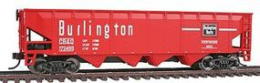 Walthers-Trainline 40 Offset Quad Hopper Chicago, Burlington & Quincy Model Train Freight Car HO Scale #1657