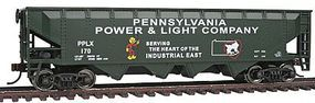 Walthers-Trainline 40 Quad Offset Hopper Pennsylvania Power & Light Model Train Freight Car HO Scale #1659