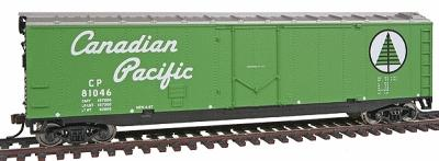 Walthers Trainline 50' Plug Door Boxcar Ready to Run Canadian Pacific -- Model Train Freight Car -- HO Scale -- #1673