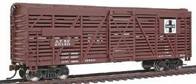 Walthers-Trainline 40 Stock Car Ready to Run Santa Fe Model Train Freight Car HO Scale #1681