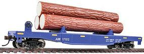 Walthers-Trainline Log Dump Car w/3 Logs Alaska Railroad #17102 Model Train Freight Car HO Scale #1770