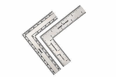 Zona Tool Co. 3'' x 4'' Stainless Steel L-Square Ruler (.022 Thick)