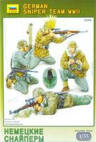 Zvezda WWII German Sniper Team (4) Plastic Model Military Figure 1/35 Scale #3595