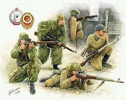 Zvezda WWII Soviet Snipers (5) Plastic Model Military Figure 1/35 Scale #3597