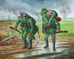 Zvezda German Medical Unit 1941-43 Snap Kit Plastic Model Military Figure 1/72 Scale #6143