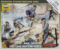 Zvezda Soviet Naval Infantry 1941-43 (4) (Snap) Plastic Model Military Figure 1/72 Scale #6146