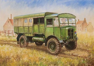 Zvezda British WWII Truck Matador -- Plastic Model Military Truck Kit -- 1/100 Scale -- #6175