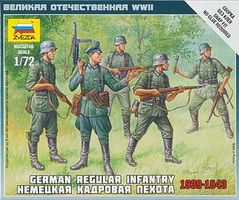 Zvezda German Regular Infantry 1939-43 Snap Kit Plastic Model Military Figure 1/72 Scale #6178