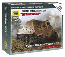 Zvezda German Sturmtiger Gun Tank Plastic Model Military Vehicle Kit 1/100 Scale #6205
