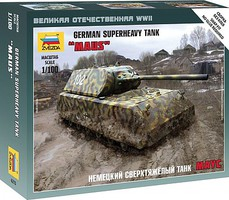 Zvezda German Maus Heavy Tank Plastic Model Military Vehicle Kit 1/100 Scale #6213