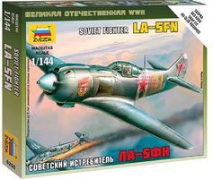 Zvezda La-5FN Soviet WWII Fighter Plastic Model Airplane Kit 1/144 Scale #6255