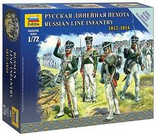 Zvezda Russian Line Infantry Napoleonic Wars 1/72 Scale Plastic Model Military Figure #6808