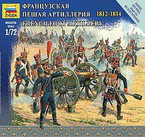 Zvezda French Foot Artillery Napoleonic Wars 1/72 Scale Plastic Model Military Figure #6810