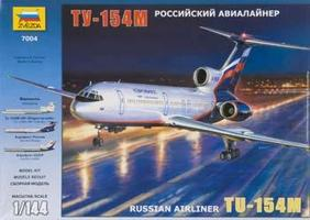 Zvezda Tupolev Tu-154 Russian Airliner Plastic Model Airplane Kit 1/144 Scale #7004