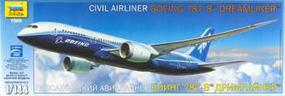 Zvezda Boeing 787-8 Dreamliner Plastic Model Airplane Kit 1/144 Scale #7008