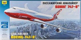 Zvezda Boeing 747-8 Plastic Model Airplane Kit 1/144 Scale #7010