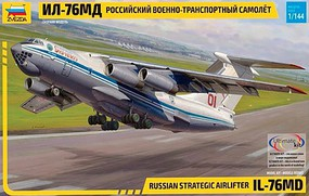 Zvezda Russian IL76 MD Strat Air Plastic Model Airplane Kit 1/144 Scale #7011