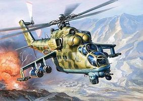 Zvezda MIL24 Russian Attack Helicopter Plastic Model Helicopter Kit 1/144 Scale #7403