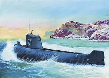 Zvezda K-19 Soviet Nuclear Submarine Hotel Class -- 1/350 Scale -- Plastic Model Military Ship -- #9025