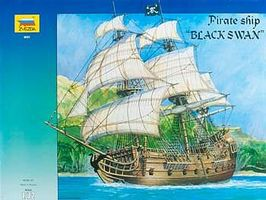 Zvezda Pirate Ship Black Swan 1/72 Scale Plastic Model Sailing Ship #9031