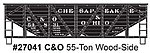 55-Ton Wood-Side Twin Hopper Chesapeake & Ohio #54831 -- HO Scale Model Train Freight Car -- #27041