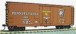 40' AAR Plug Door Box Car Kit - Pennsylvania Railroad -- HO Scale Model Train Freight Car -- #3102