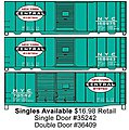 40' Steel Double Door Boxcar New York Central -- HO Scale Model Train Freight Car -- #36409