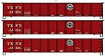 41' Steel Gondola 3-Pack Kit Southern Pacific T&NO -- HO Scale Model Train Freight Car -- #37494