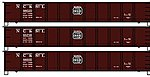 41'6'' AAR AAR Steel Gondola NC&STL (3) -- HO Scale Model Train Freight Car Set -- #37584