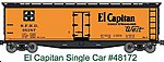 40' Wood Reefer - Kit - Santa Fe #35302 -- HO Scale Model Train Freight Car -- #48172
